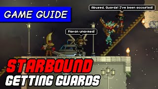 How to attract guards to Starbound NPC colony | Game Guide [Starbound Pleased Giraffe]