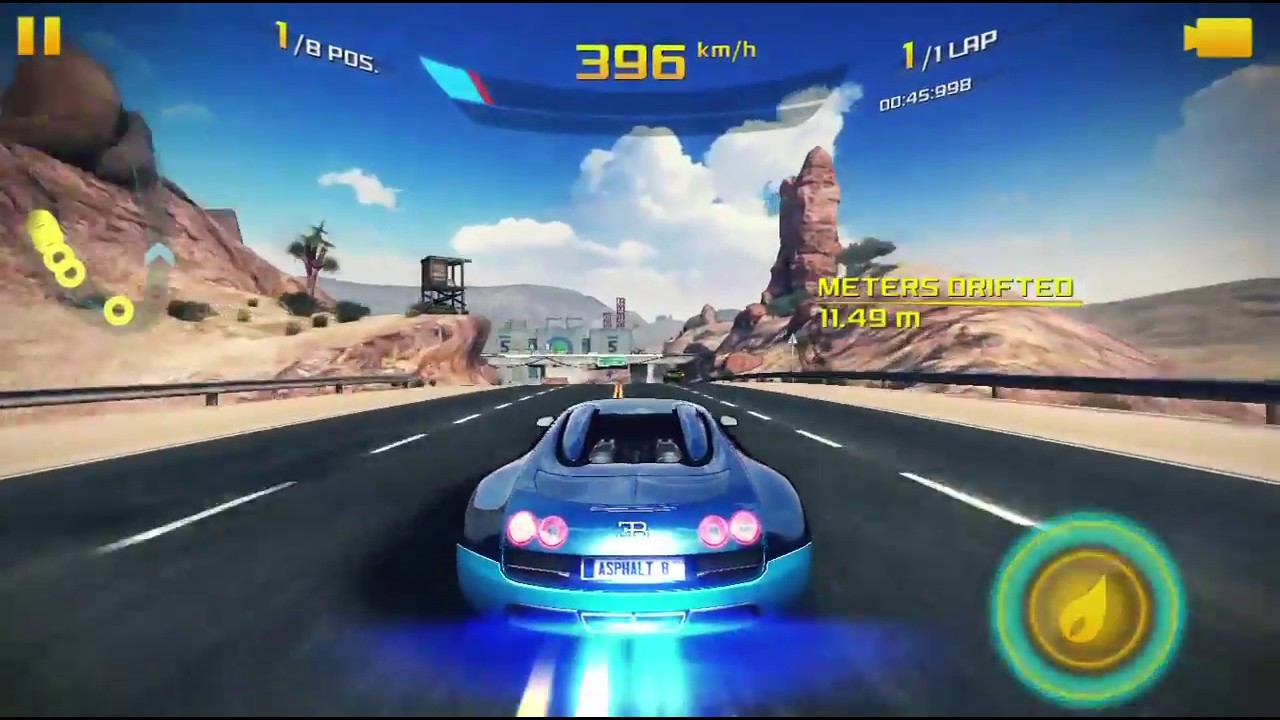 asphalt 8 airborne bugatti 16 4 grand sport vitesse challenge 1 youtube. Black Bedroom Furniture Sets. Home Design Ideas