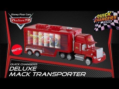 Disney Pixar Cars2 Quick Changers DELUXE Mack Transporter 1:55 von Mattel deutsch (german)