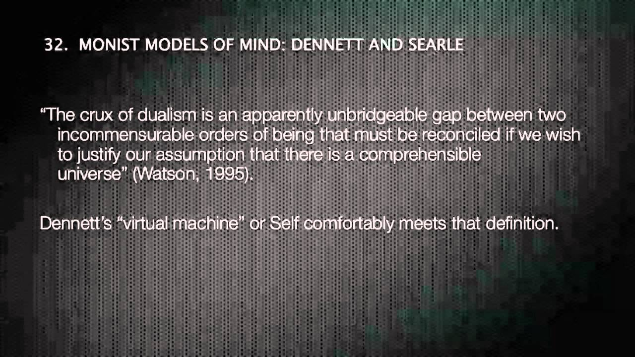 critical analysis of dualism monism and Dualism teaches that mind and body are two really distinct principles whilst  monism  criticism -- now, in the first place, this historical theory is utterly false.