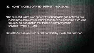 MONISM VS DUALISM & PSYCHIATRY 4/4 DENNET & SEARLE Thumbnail