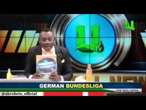 Ghana UTV Commentator Has a Hard Time Pronouncing Football Team. Funny.