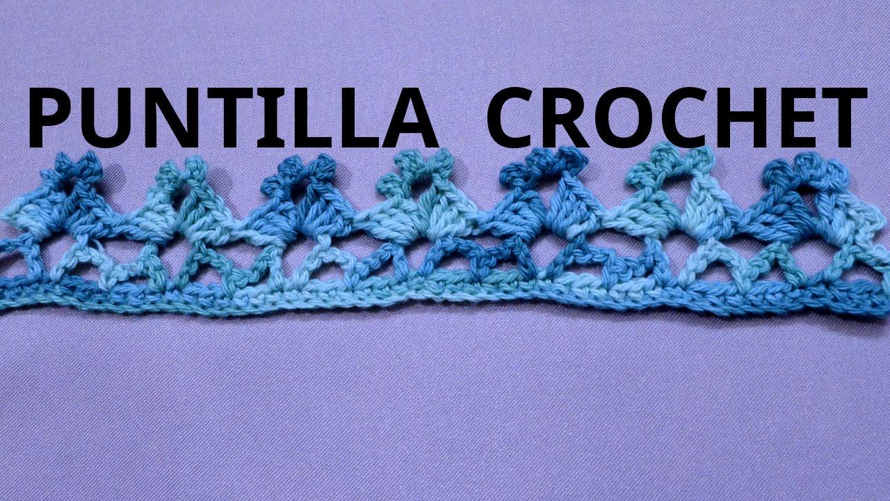 puntilla n 50 en tejido crochet tutorial paso a paso
