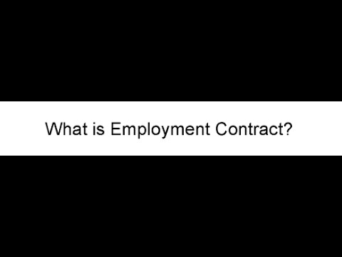 What is Employment Contract?