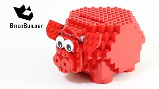Lego 40155 Piggy Coin Bank - Lego Speed Build