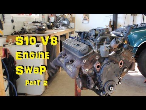 V8 S10 Engine Swap Project - Part 2 - ENGINE TEARDOWN