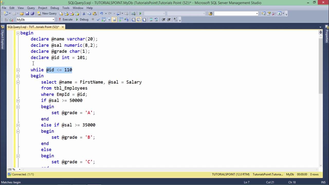 T-SQL - Loops