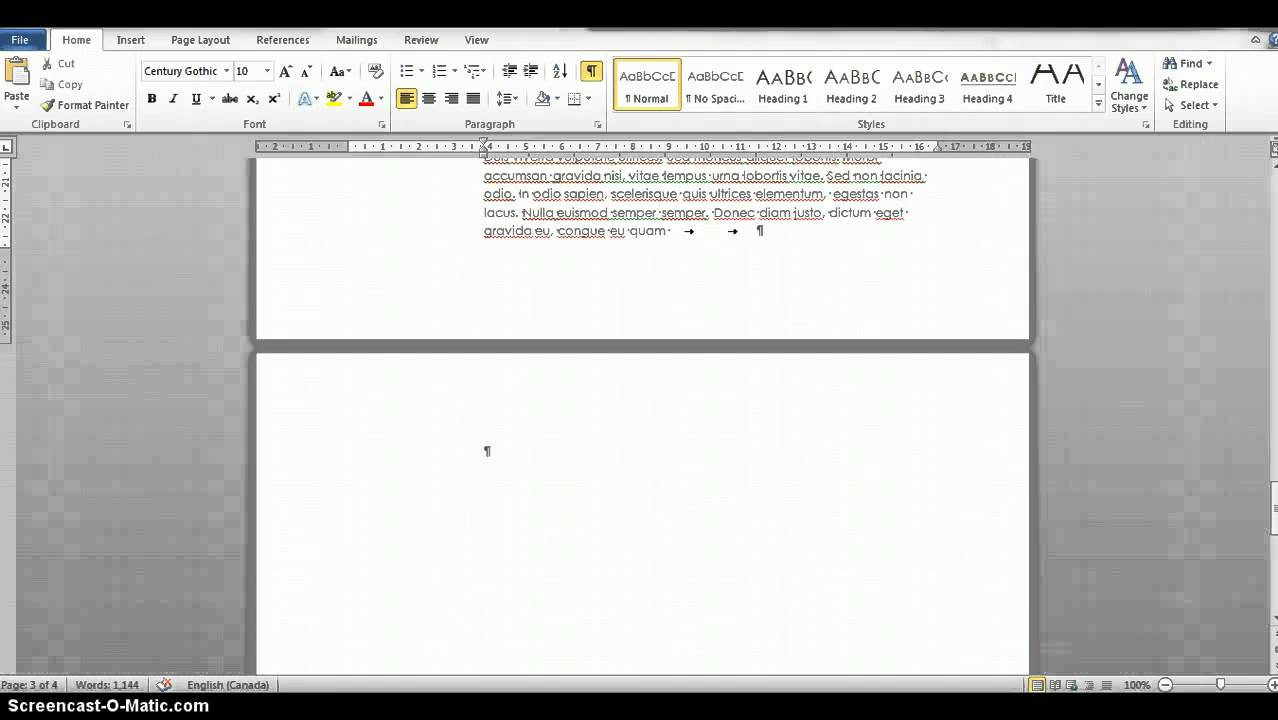 Getting Rid Of A Blank Page In Word