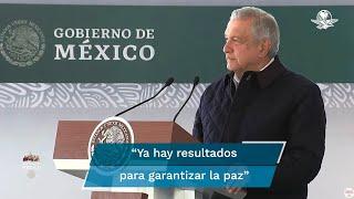 Horas después del hallazgo de 19 cuerpos calcinados en Tamaulipas, López Obrador indicó que ya hay resultados para garantizar la paz y la tranquilidad en el país