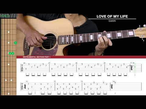 Love Of My Life Guitar Cover Acoustic Fingerpicking - Queen 🎸 |Tabs + Chords|