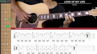 Download Love Of My Life Guitar Cover Acoustic Fingerpicking - Queen 🎸 |Tabs + Chords| Mp3 and Videos