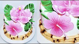 Cake decorating tutorials | how to make a Hawaiian LUAU cake | Sugarella Sweets