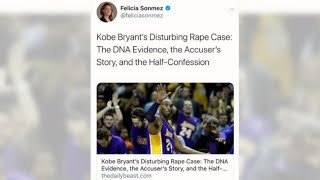 Reporter suspended after 'misguided' tweet on Kobe Bryant's death