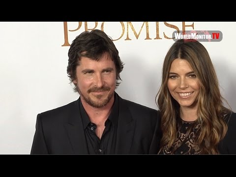 Batman Christian Bale and Lovely wife Sibi Blazic at 'The Promise' LA premiere