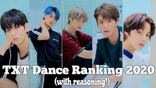 TXT Dance Ranking 2020 (with reasoning!)