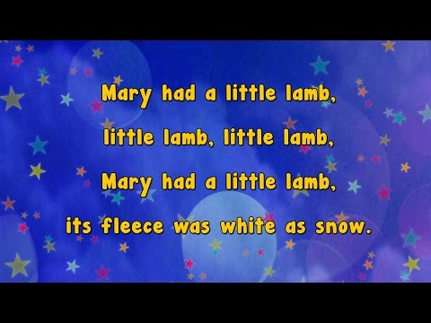 Karaoke - Mary Had A Little Lamb | Karaoke Rhymes