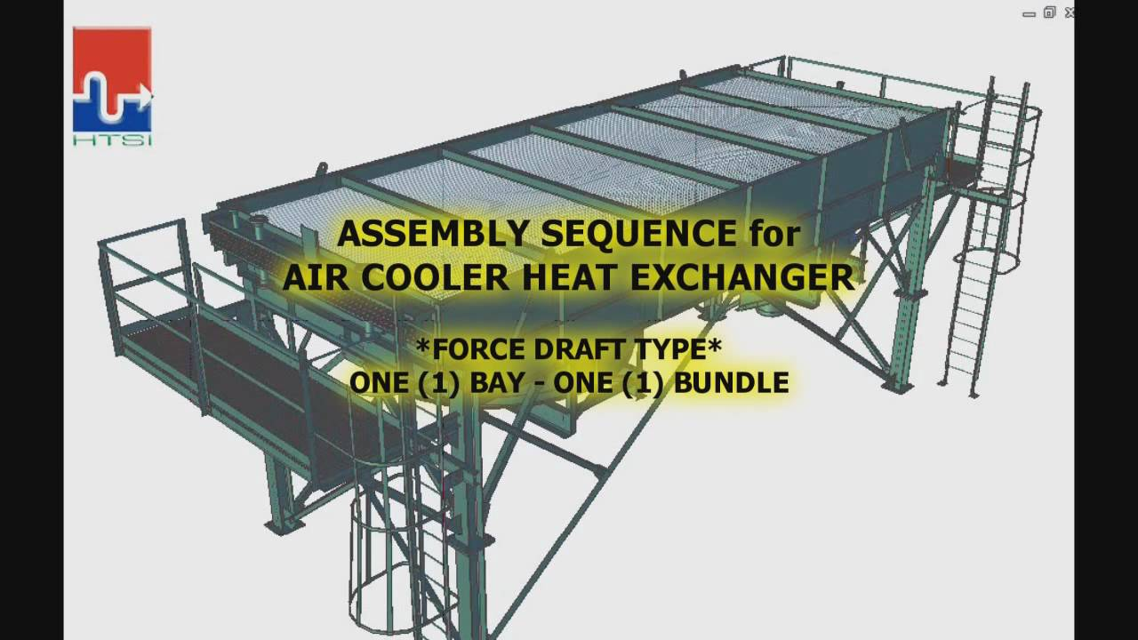 AIR COOLER HEAT EXCHANGER - ANIMATED ASSEMBLY