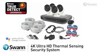 Swann 4K DVR Security System Overview DVR-5580 with 4K Security Cameras PRO-4KMSB