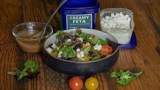 Simple Salad with Ezra's Feta Cubes