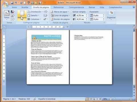 Como cambiar el dise o de pagina en word casa dise o for Paginas de diseno de casas