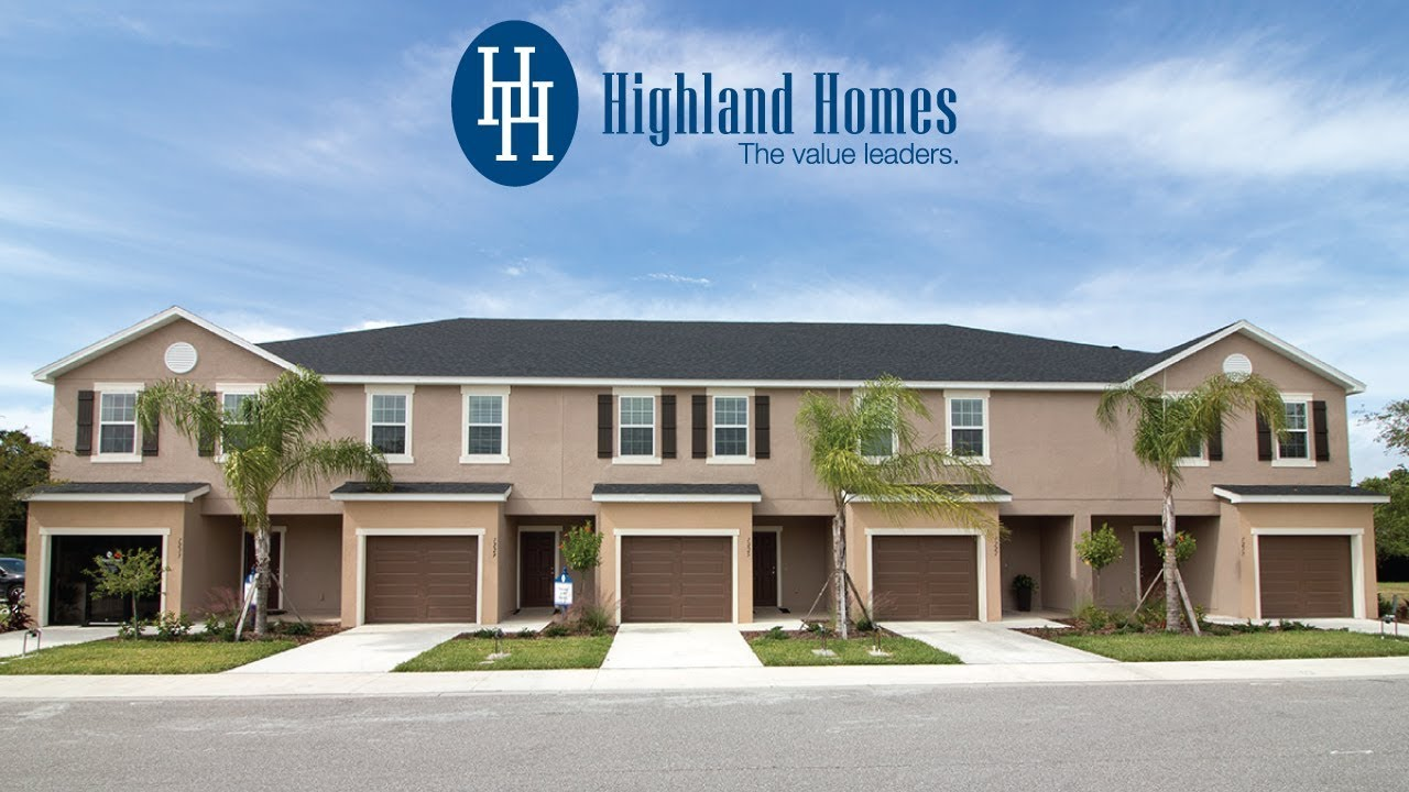 Kendall Townhome By Highland Homes Sarasota New Homes For Sale