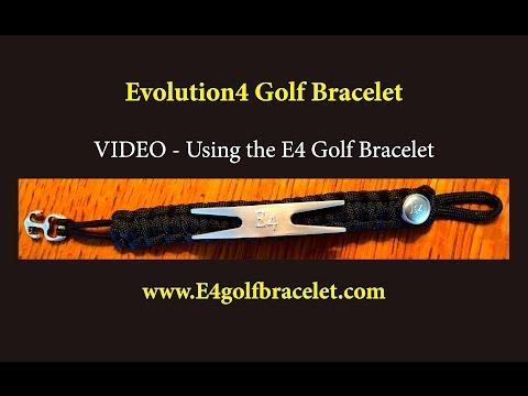 Evolution4 Golf Bracelet - Divot Tool and Ball Marker on a Bracelet