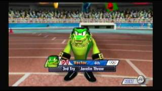 Mario and Sonic at the Olympic Games Athletics: Javelin Throw