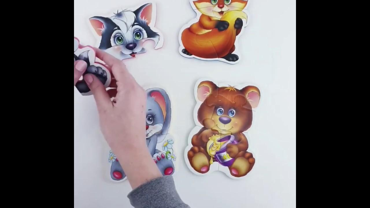 Vladi Toys VT1106-09 Мягкие пазлы Baby puzzle Лесные жители