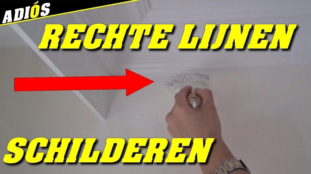 Muren Afplakken Schilderen.Tips Om Rechte Lijnen Te Schilderen Zonder Plakband Dit Is De Truc