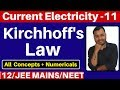 Current electricity 11 kirchhoff s law kirchhoff s current law kirchhoff s voltage law jee neet mp3