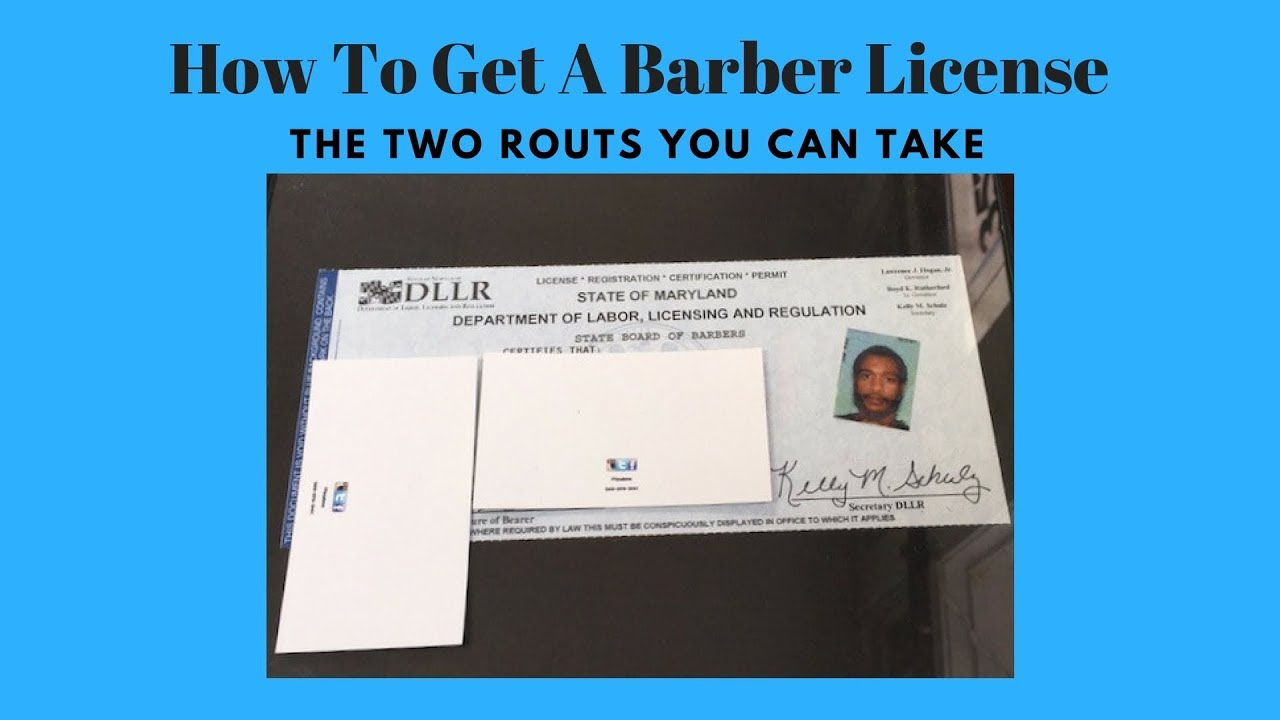 How To Get A Barber License Youtube