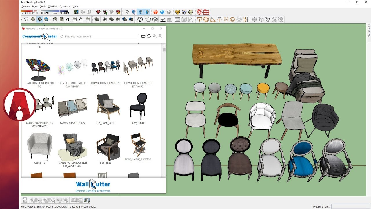 free download 3d sketchup components