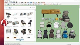 Free Sketchup 3D Models Library Plugin | Component Finder