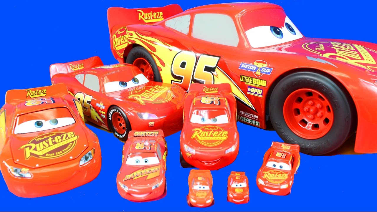 dccd26839b9 Disney Cars 3 World s Biggest Mattel Toy Pixar Lightning McQueen And  Collection