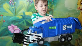 Toy Truck Videos for Children.   Toy  Garbage Truck at Bogdan`s Show