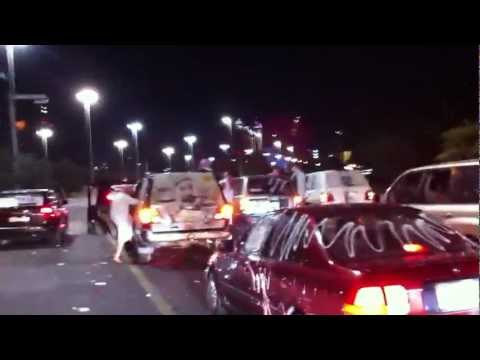 UAE NATIONAL DAY 2011 CAR SOUNDS [ABU DHABI CORNICHE ROAD]