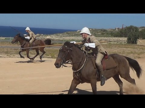 Victorian Cavalry Drill, And 'tent Pegging' At Fort Rinella
