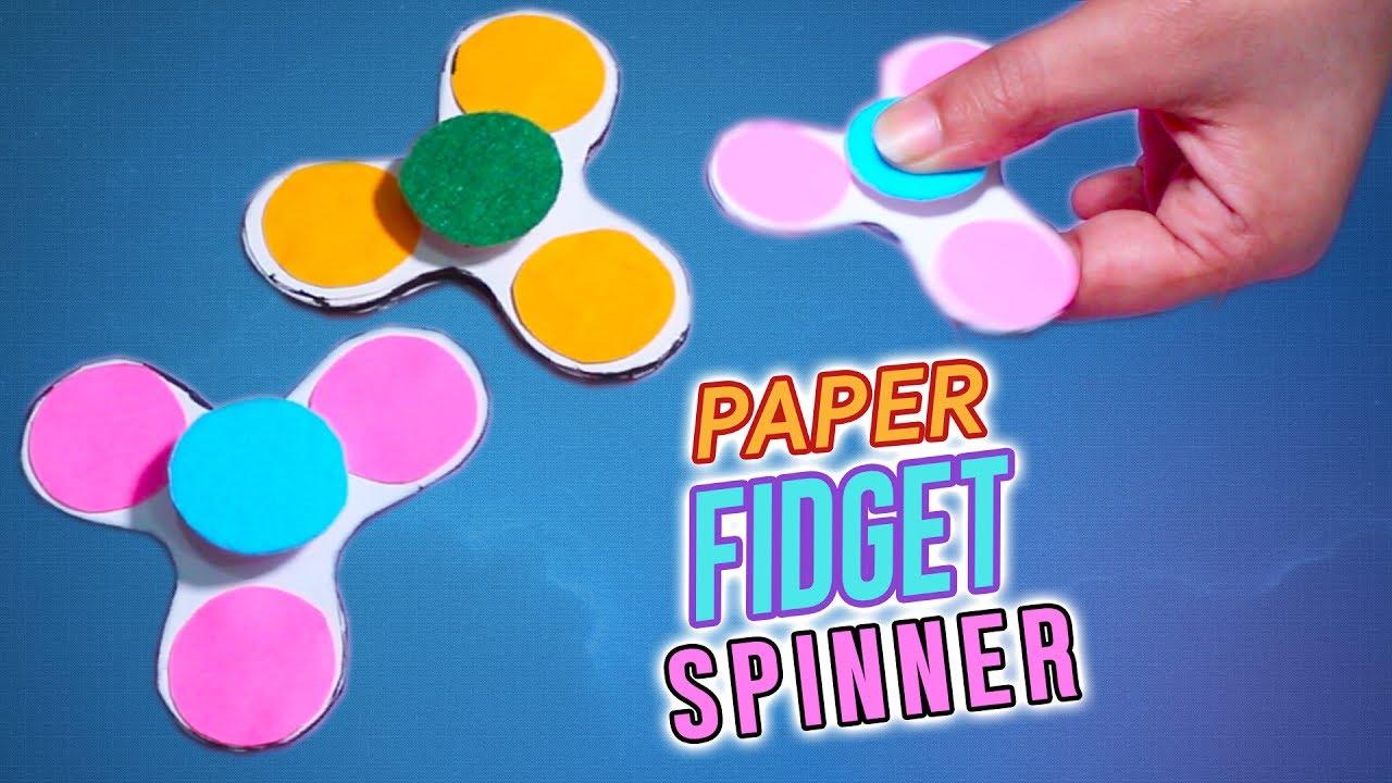 diy paper fidget spinner for kids diy fidget spinner with easy method no template required. Black Bedroom Furniture Sets. Home Design Ideas