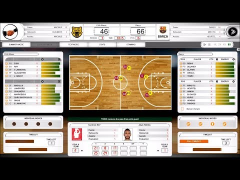 International Basketball Manager 2019 20 Gameplay Pc Hd 1080p60fps Youtube