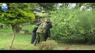 Naivasha python scares off Police