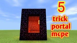 5 TRICK PORTAL MCPE