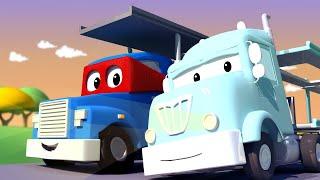 Xe vận chuyển xe hơi - Siêu xe tải Carl 🚚⍟ những bộ phim hoạt hình về xe tải l Super Truck