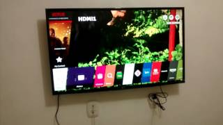 Mostrando a Smart TV LG 43UH6100, 4K