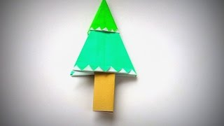 Origami - How To Make A Christmas Tree
