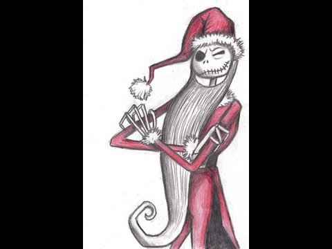 How to draw Jack - Nightmare before Christmas - YouTube
