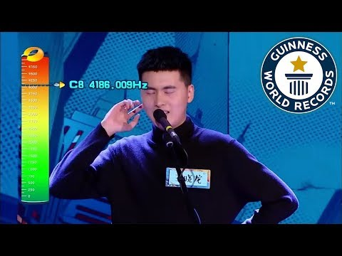 Highest vocal note - male - Guinness World Records