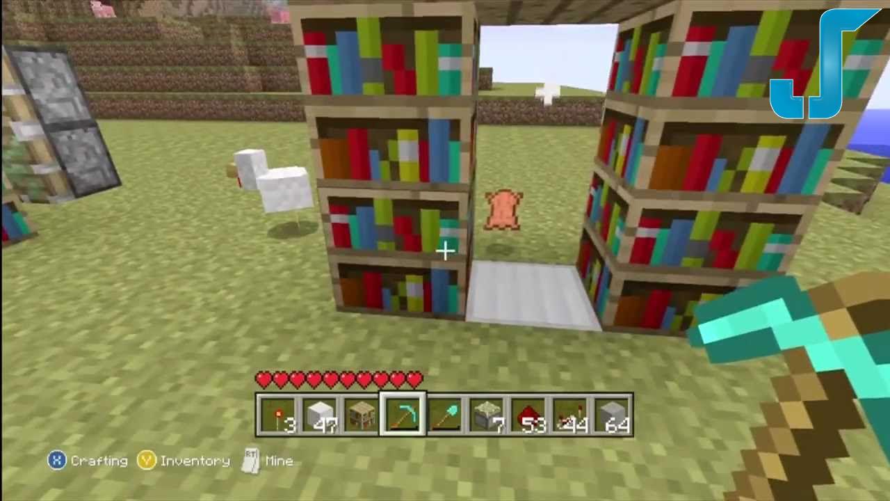 Minecraft Xbox Secret Library Door Tutorial W Pistons