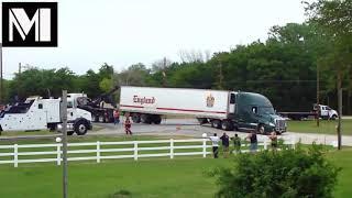 C.R. England Truck Stuck On His Landing Gear Pads