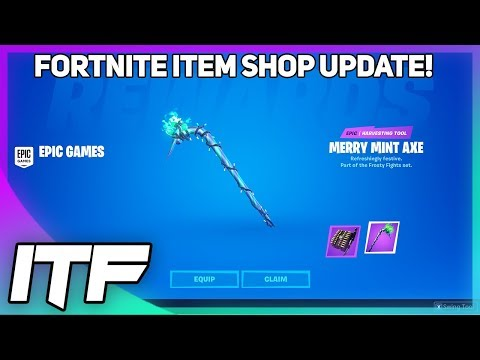 Fortnite Item Shop UPDATE + MERRY MINT AXE! (Fortnite Battle Royale)