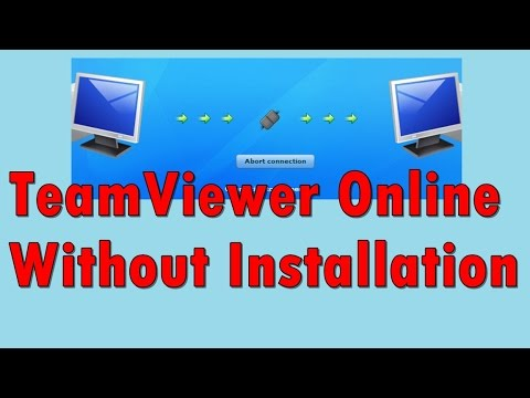 Teamviewer online without installation - YouTube